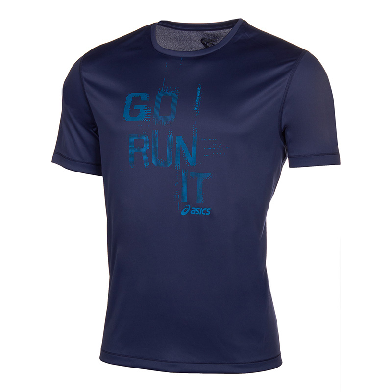 Male T-Shirt ASICS 125141-8133 sports and entertainment for men sport clothes available from 10 11 asics running t shirt 141240 1107