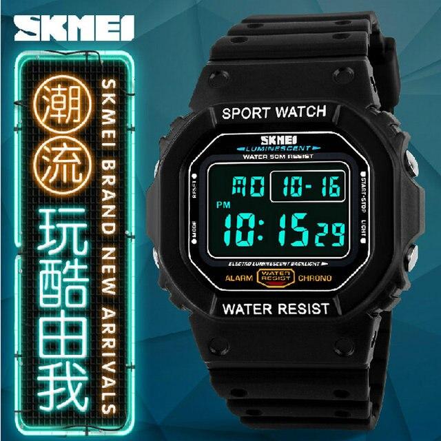 Низкая цена моды для мужчин, качество спорт на открытом воздухе мужские Водонепроницаемый LED Аналоговых дети девушки Ребенок пакет Цифровой Военные часы