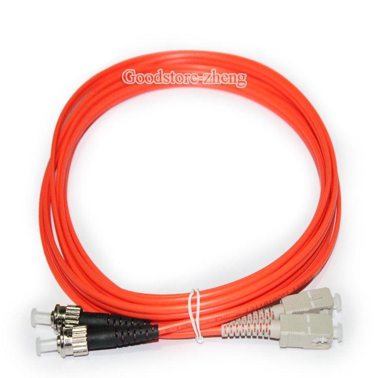5m ST-ST Duplex Multimode 62.5//125 Fiber Optic Network Patch Cord Cable