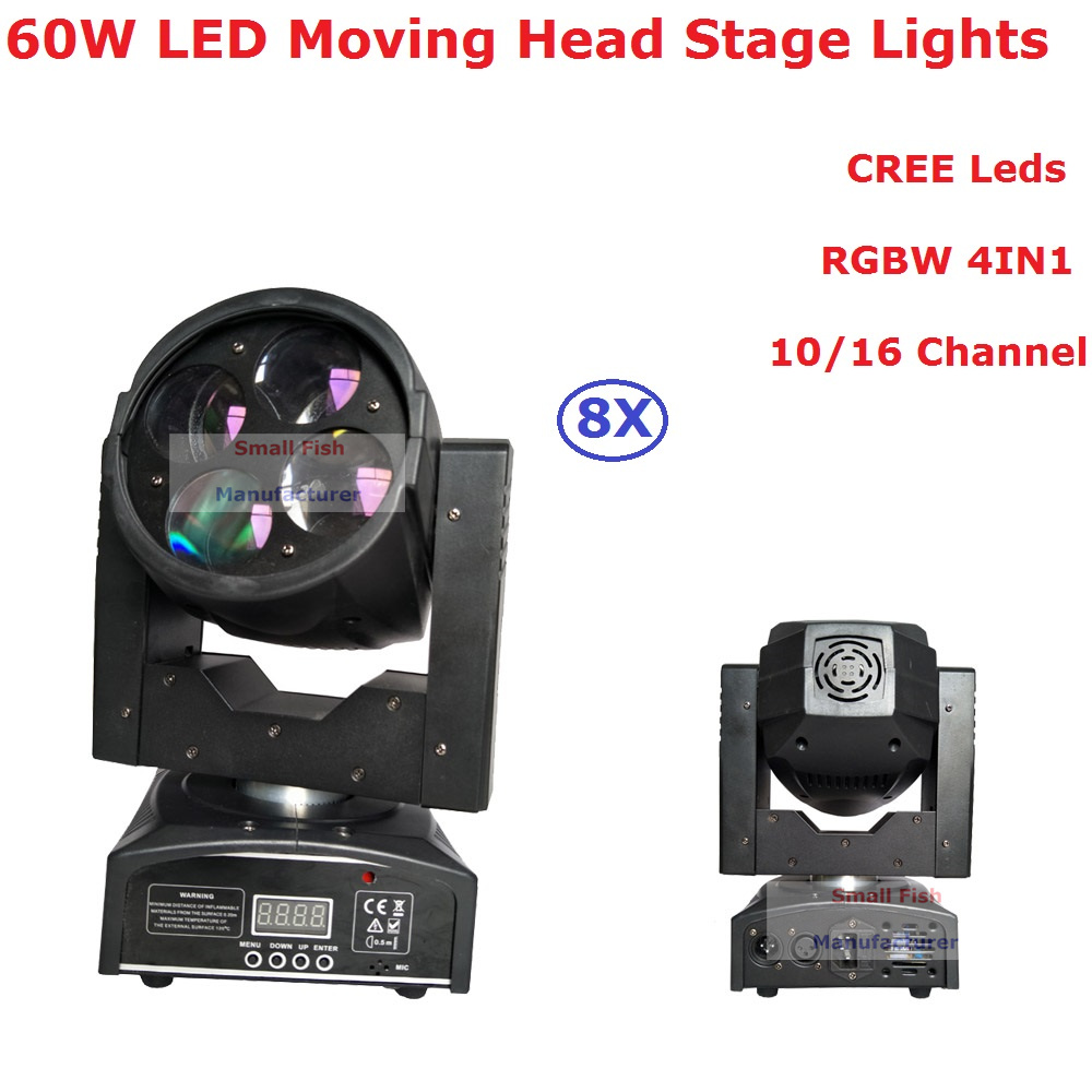 Logical Big Discount 8xlot 60w Led Moving Head Light 10/16 Chs Hi Quality 4x10w Rgbw 4in1 Beam Light For Professional Stage Dj Lighting Back To Search Resultslights & Lighting
