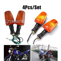 4pcs Set Motorcycle Amber Front Rear Turn Signals Indicator Light Lamp For YAMAHA XJR400 FZ400 RZ250
