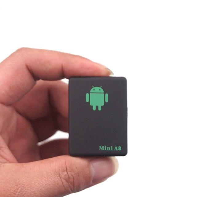 A8 Mini GSM/GPRS Tracker Global En Temps Réel GSM GPRS DÉPISTANT le Dispositif avec SOS Bouton pour Voitures Enfants Aîné Animaux Aucun GPS Tracker
