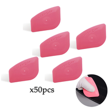 EHDIS 50PCS Foil Squeegee Vinyl Film Car Wrap Auto Home Office Car Film Sticker Install Cleaning Pink Scraper Window Tints Tooltool tooltool wraptools auto
