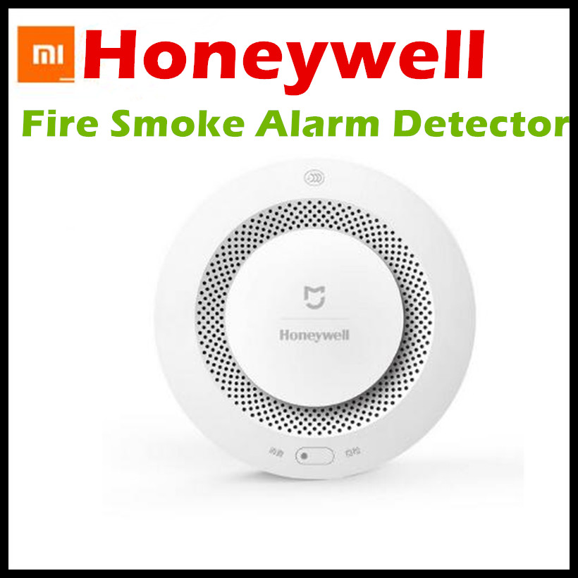 2017 Xiaomi Mijia Honeywell Fire Alarm Detector Audible And Visual Alarm Work With Gateway Remote Notication Mihome APP Control xiaomi mijia air conditioning remote controller socket smart gateway app control