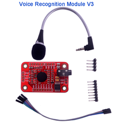 Voice Recognition Module V3, Speak Recognizing Recognition Board with Microphone for Arduino 4.5-5.5V RCmall FZ0475