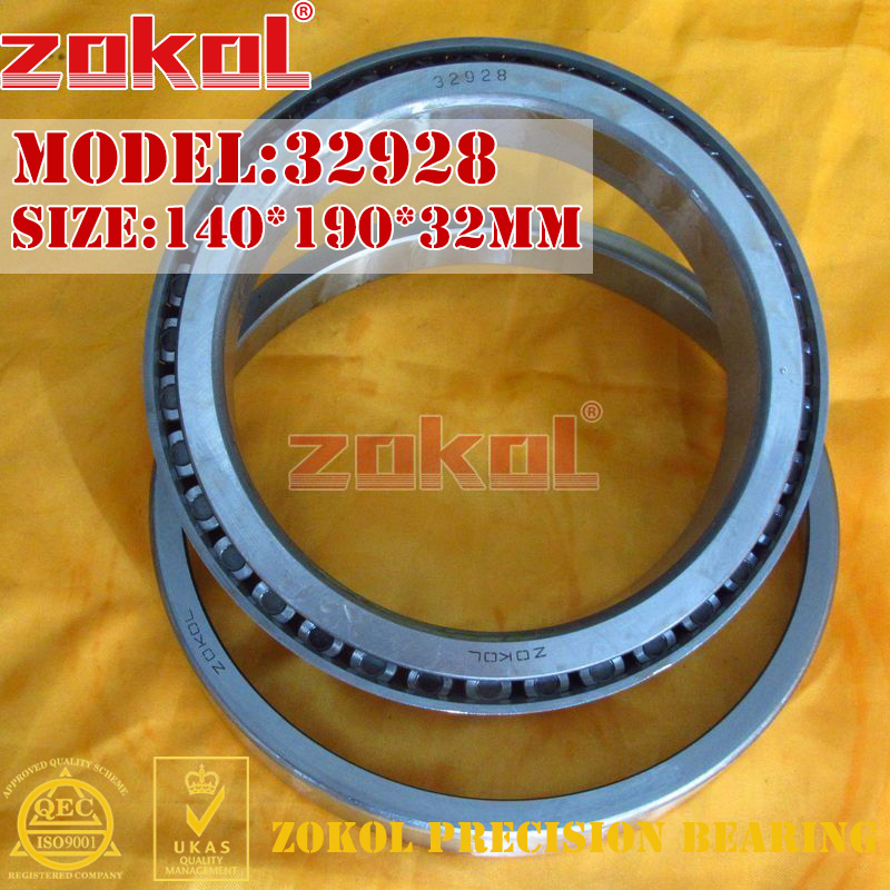 ZOKOL bearing 32928 2007928E Tapered Roller Bearing 140*190*32mm цена