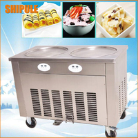 2017 doubel circle pan round pan fried ice cream machine big square pan ice cream roll machine ice pan plate for sale