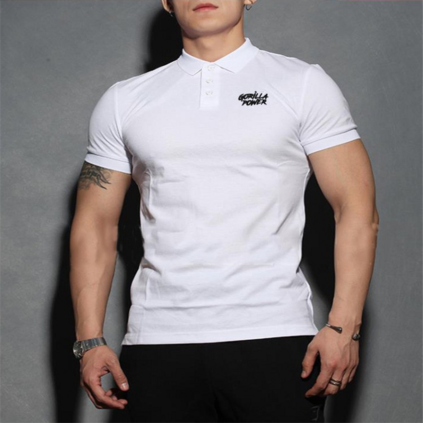 New Fashion Summer Brand short sleeved Male Slim Fit Tee Shirts  Sports Casual Golf Shirts   Polos   Shirt Men Breathable Tee Shirt
