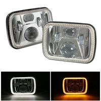 110W 5X7 7X6 inch Rectangular Sealed Beam LED Headlight With DRL for Jeep Wrangler YJ Cherokee XJ H6014 H6052 H6054 LED 1 Pair