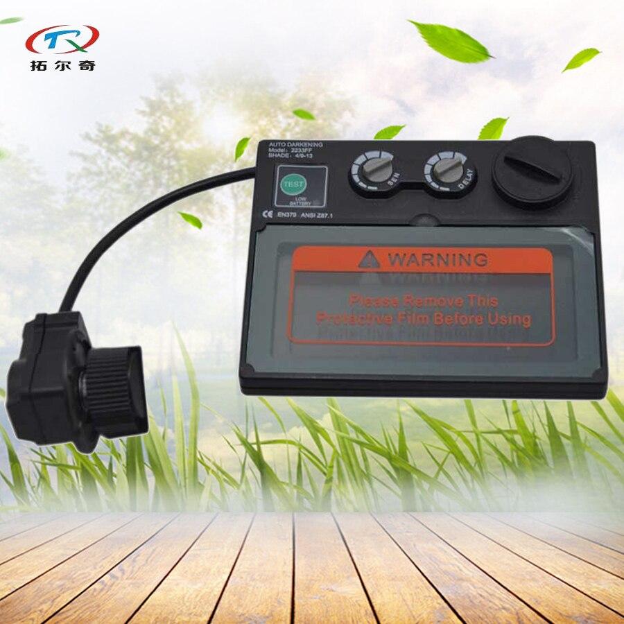 Auto Assombrissement Filtre pour Casque De Soudage 92.5*42.5mm soudeur masque Filtre avec Broyage Fonction Solaire Intérieure batterie TRQ-2233FF