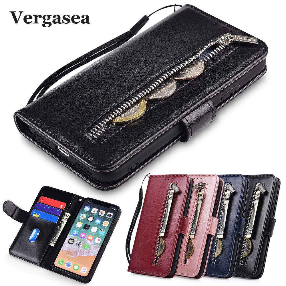 M6T Cover For Meizu M6T M5 M5s M5c M6 Coque With Strap Leather Zipper Wallet Case For Meizu M6s S6 Kickstand Fitted Case