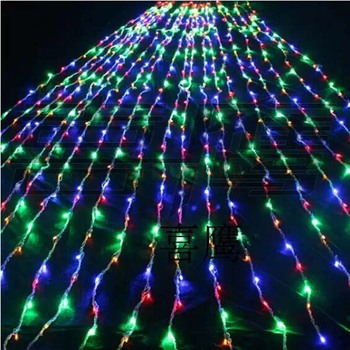 Blue Curtains For Bedroom | 9 Color Choose 3m X 3m Waterfall Light Christmas Wedding Party Background Holiday Water Flow Curtain LED Light String 336 Bulbs