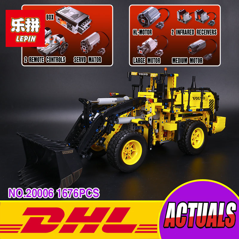 NEW LEPIN 20006 technic series 1636pcs Volvo L350F wheel loader Model Building blocks Bricks Compatible 42030 boy gift car ToyS lepin 22001 pirate ship imperial warships model building block briks toys gift 1717pcs compatible legoed 10210