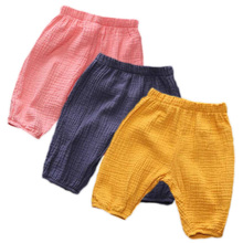 2019 Summer Boys Girls Boomer Casual Cotton Harem Pants for Boy Children Linen Kids Clothing Calf Lenght Trousers 1-4Y