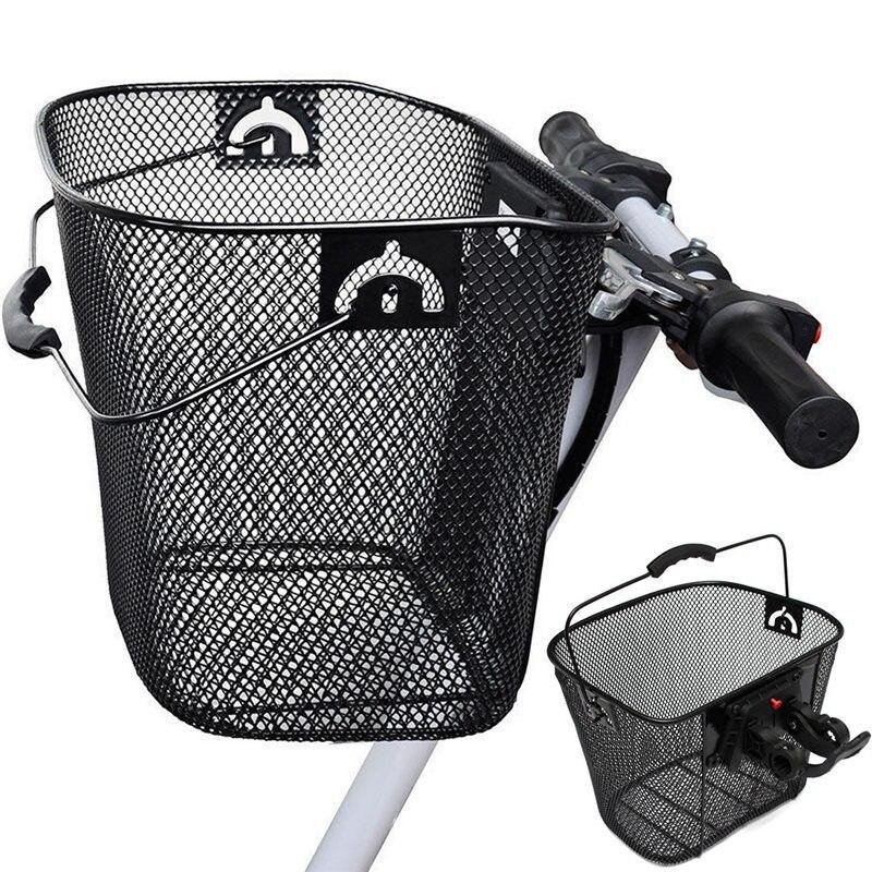 Металлическая сетка MTB корзина для горного велосипеда быстросъемная ручка велосипедная передняя складная корзина для езды на велосипеде задний Паньер|Сумки и корзины для велосипеда|   | АлиЭкспресс