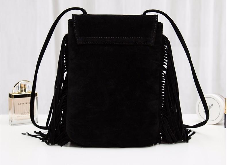 Hippie Suede Fringe Tassel Messenger Bag Women Hobo Shoulder Bags Crossbody Handbag (17)