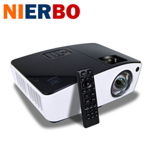 NIERBO Outdoor Projector 3D Short Throw Projector Support 1080P 8000 Lumen for School Business 3D film projector 260W Bulb HDMI