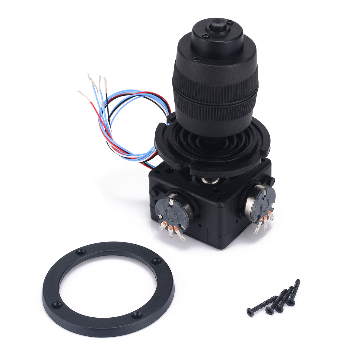 Black 4-Axis Joystick Potentiometer Button with Wire For JH-D400X-R4 10K 4D Rocker Potentiometer Machine Control спот citilux ы герда cl523521 page 5