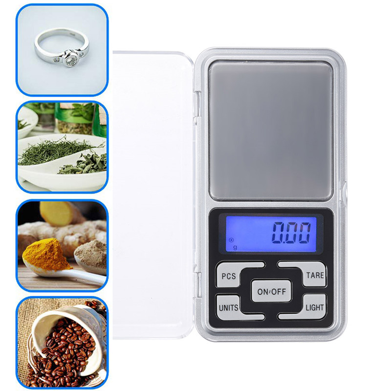 500g/0.1g Mini Precision Digital Scales For Jewelry Tea Food Gold Sterling Silver Scale Portable Electronic Scales Drop Shipping