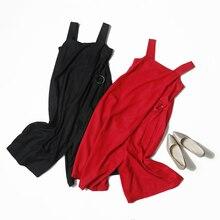 Veydu, летние женские повседневные Комбинезоны, элегантные, нестандартные, широкие, без рукавов, с поясом, свободные, одноцветные, женские комбинезоны