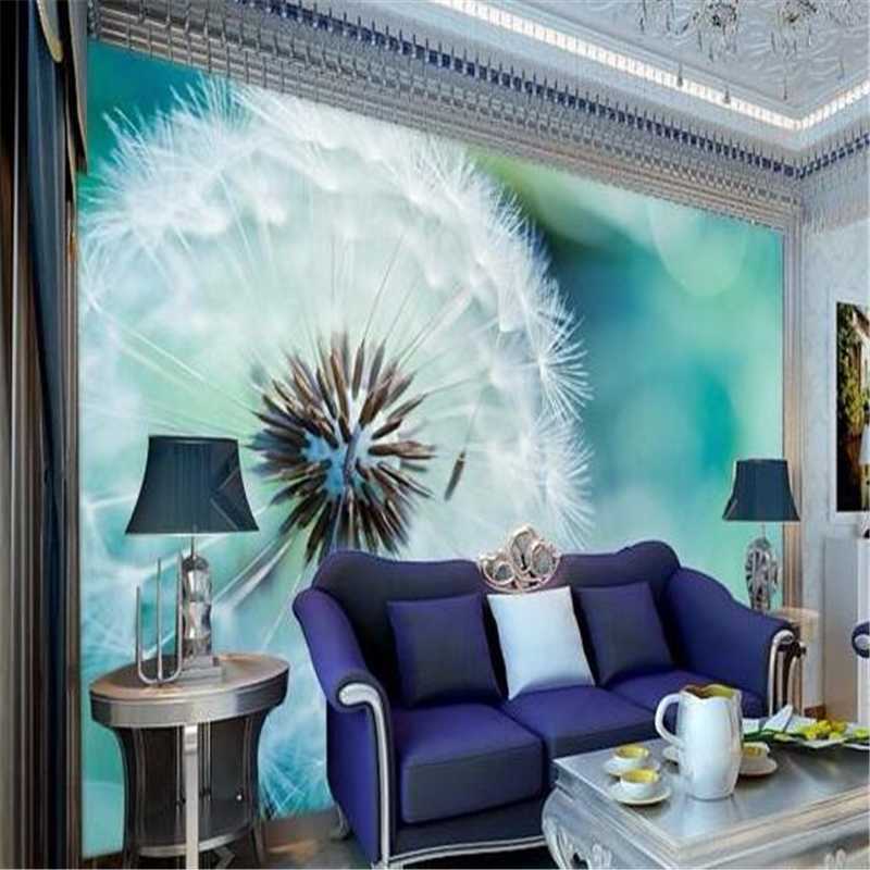 Outstanding Custom Photo Wallpaper 3D Stereo Mural Abstract Dandelion Living Room Sofa Bed Bedroom Set Wallpaper For Walls Beibehang Pabps2019 Chair Design Images Pabps2019Com