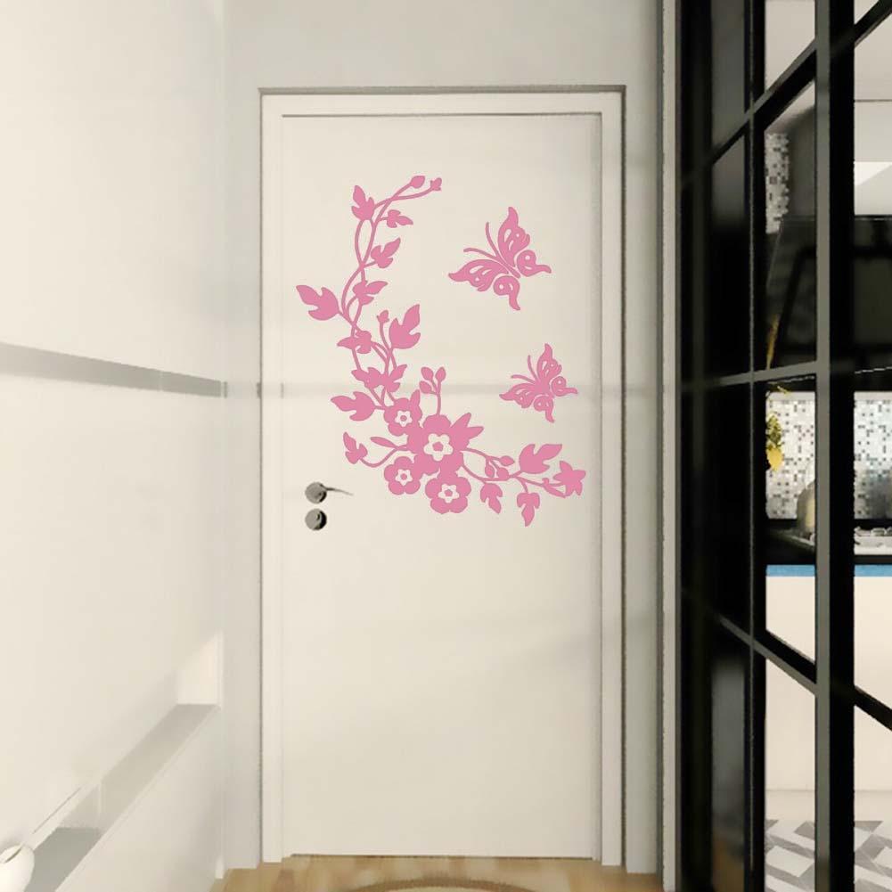 Salle De Bain Minerale ~  Nouveau Papillon Fleur De Vigne Salle De Bains Wall Sticker