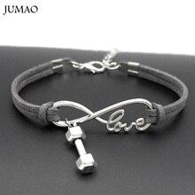 Модные Бесконечная любовь фитнес бусины-гантели браслеты Штанга ювелирные изделия для женщин мужчин и девочек браслет подарок