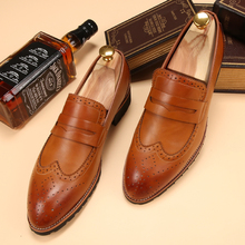 Tidog Korean club trend Bullock sets foot shoes and tassel tip British stylist boys low leather shoes