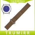 Banda de Reloj Del Cuero genuino Correa de la Cerradura Magnética para Pebble Tiempo Ronda 20mm Bradley Correa de Liberación Rápida de la Muñeca Reloj de Pulsera