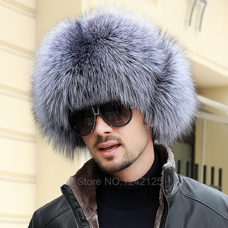 New winter Russia parent-child boy men women real fox fur hat genuine leather top Whole fur hat ear Earmuff raccoon fur hats cap 2017 new lace beanies hats for women skullies baggy cap autumn winter russia designer skullies