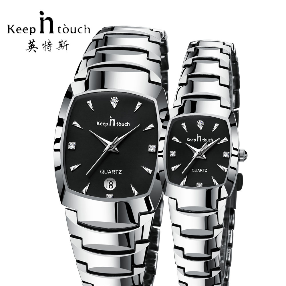 KEEP IN TOUCH Luxury Brand Lover Watches Quartz Calendar Dress Women Men Watch Couples Wrist Watch Wedding Gift 2018 With Box ...