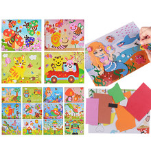 Kids Birthday Party Gift DIY Cartoon Animal 3D EVA Foam Sticker Puzzle Toys For Kids Girl action Learning Education Toys(China)
