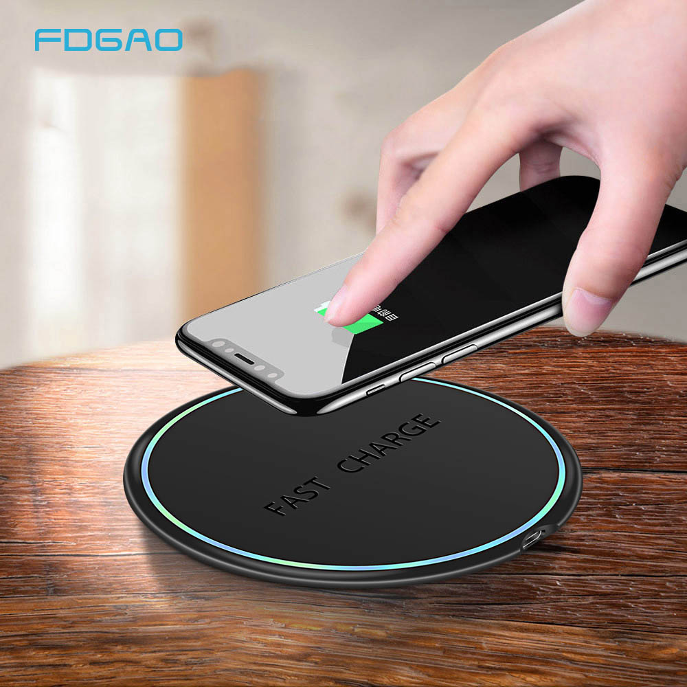 FDGAO Charging-Pad Xiaomi Wireless-Charger Note-9 Samsung Max-Fast iPhone X Qi Mi-9 10W