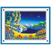 5D DIY Diamond Painting Scenery Landscape Sky Diamond Embroidery Cross Stitch Diamond Mosaic Needlework Crafts Christmas