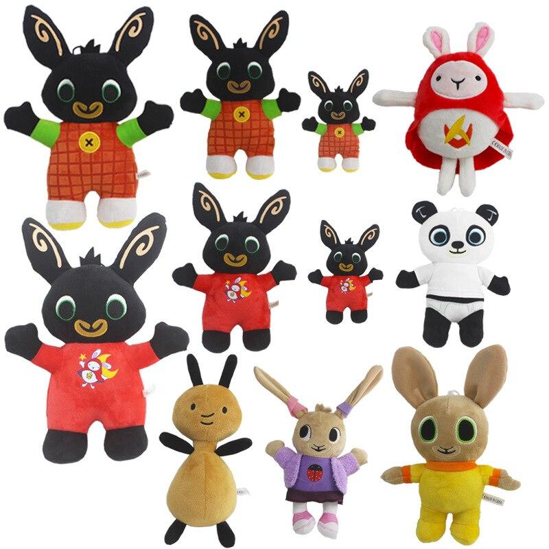 빙 토끼 플러시 장난감 펜던트 클립 키 체인 빙 토끼 인형 장난감 hoppity voosh 박제 동물 판도 토끼 장난감 크리스마스 선물