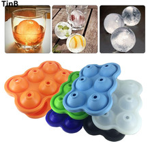 New Ice Cream Maker Ice Ball Mold Food Safe Silicone Spherical Round Ball Ice Cube Tray Maker Mold for Party Bar Kitchen Tools