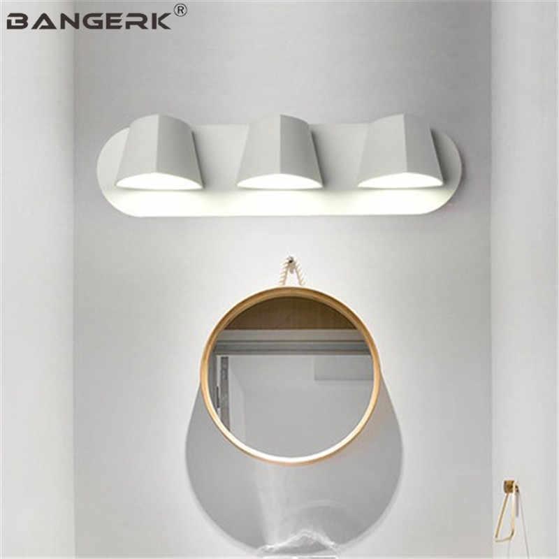 Современный настенный светильник в скандинавском стиле, вращающийся светодиодный настенный светильник для ванной комнаты, прикроватный Железный акриловый светильник для домашнего декора