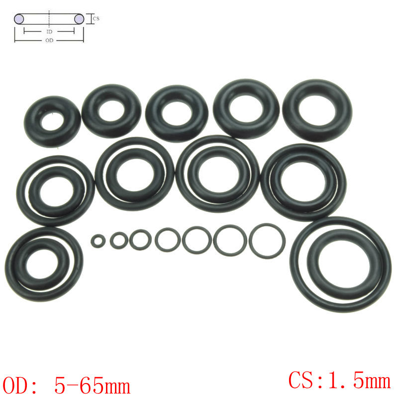 CS 1.5mm OD5-65mm NBR Rubber O Ring O-Ring Oil Sealing Gasket Automobile Sealing corol s 2 orange page 4