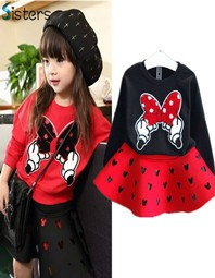 2016-New-Autumn-Fashion-Baby-Girls-Clothing-Set-Minnie-T-shirt-Skirt-2pcs-set-dot-bow.jpg_640x640