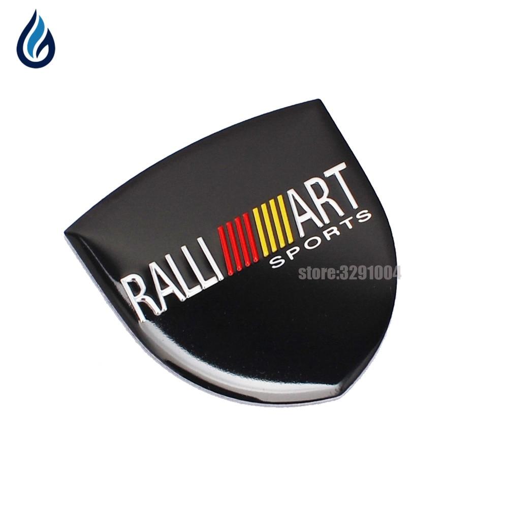 Décoration de voiture Badge Sticker Métal RALLIART Emblème Autocollant pour Mitsubishi ASX Lancer 10 Pajero Outlander L200 EVO Eclipse Grandis