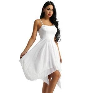Image 4 - IIXPIN kobiety asymetryczna sukienka do tańca szyfonowa balet taniec nowoczesny balowy współczesnej liryczny kostiumy do tańca baleriny balet sukienka