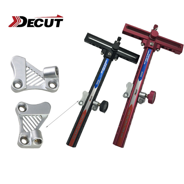 1 Pcs DECUT Recurve Bow Sight Mount Silver Zinc Alloy Bow Accessories Archery Hunting Shooting Outdoor Sports Competition