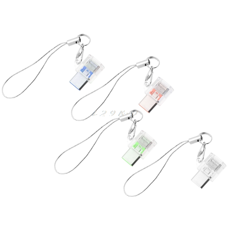 USB 3.1 Type C Male To Micro USB Female Converter Keychain