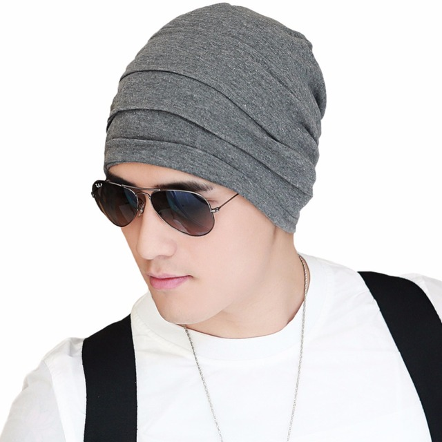 Mens Knitted Beanie Bonnet Hat Cotton Blend Skullies Caps Fall Winter Hats Thick Warm Soft Lining