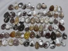 50pcs  Natural hair QUARTZ Crystal  ghost   pendant  free shipping  (have drill)2