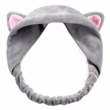 Women Cute Cat Ear Headbands for Cross Knot Elastic Hair Bands Soft Solid Girls Hairband Accessories Scrunchie