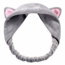 Women Cute Cat Ear Headbands for Women Cross Knot Elastic Hair Bands Soft Solid Girls Cute Hairband Hair Accessories Scrunchie(China)
