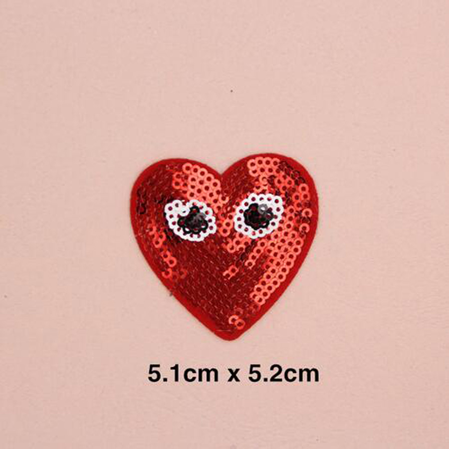 Paillette Sequins Embroidered Heart Patch Clothes Stickers Bag Sew Iron On Applique DIY Apparel Sewing Clothing Accessories BU28 in Patches from Home Garden