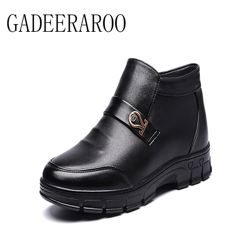 ФОТО 2016 Brand GADEERAROO Men Winter Casual Shoes Lace-up Snow Casual Men Shoes Antiskid Size 38~45 Warm Plus fashion boots men #988