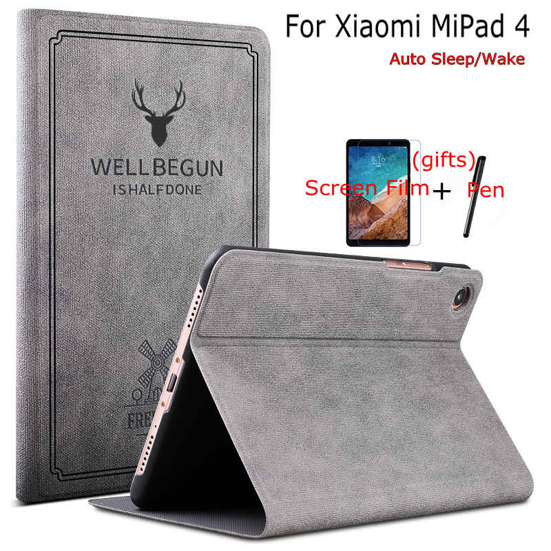 IBuyiWin Smart Cartoon PU Leather Case For Xiaomi MiPad 4 8.0 Inch Tablet Funda Cover For Mi Pad 4 With Auto Sleep/Wake Up+Gifts